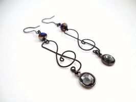 Treble Cleft Earrings by SerenityinChains
