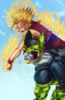 Gohan x Cell by WhitneyCook