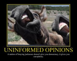 Uninformed Opinions Motivational Poster by DaVinci41