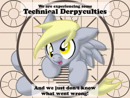 We are experiencing Technical Derpyculties by Inkwell-Pony