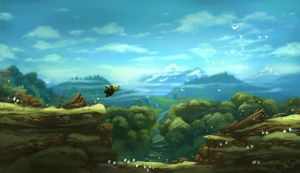 Concept-art for 2D sidescroller by Domen-Art