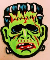 Frankenstein Monster Vintage Halloween Mask by Insert-Name-YouIdiot