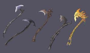 one handed axes by Wen-M