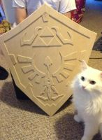 Hylian Shield WIP by Ryua