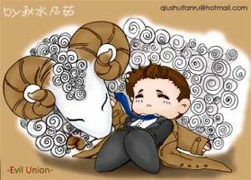 castiel and sheep by autumn-water