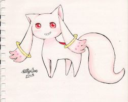 Kyubey digital/traditional by TheUndertakersKitty