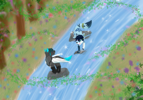 play in the river by JC-Yuna