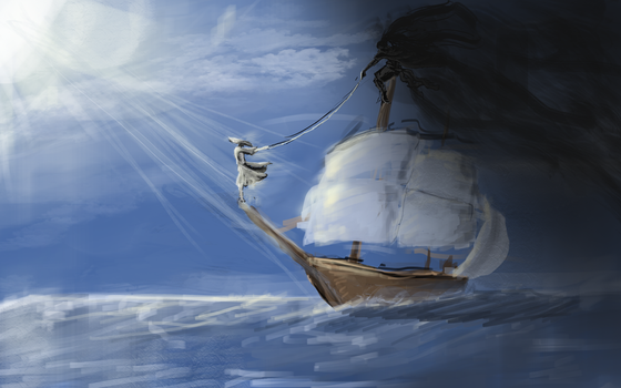 Finding a demon on a ship by Iamveryfast