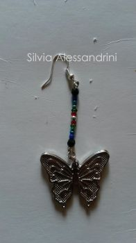 Butterfly earring by SilvieTepes