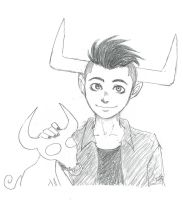 Sketch of Tavros by SRAYA