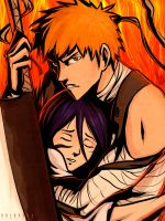 Ichigo and Rukia: Save Me by SolKorra