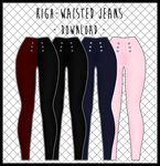 High-Waisted Jeans [ DOWNLOAD ] by Aia-Aria