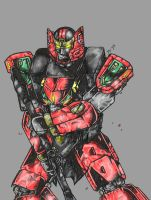 Red Dragon Thunder Zord by Rodimus84