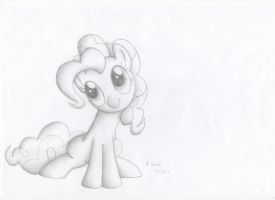Pinkie Pie Pencil Drawing by Robertmc12