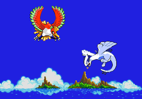 Ho-oh Vs Lugia by GynTrainer