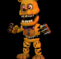 FNAFWORLD Nightmare Fredbear [GIF] by TheSitciXD