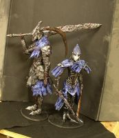Dark Souls Artorias and Ciaran statues by futantshadow
