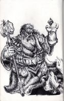 My DnD Dwarf Wizard by 5p1ny
