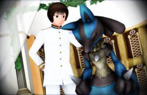 .:Lucario and Japan:. by RussiaRomano