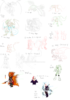Sketchdump / Unfinished pics by Demintai-Eclipse