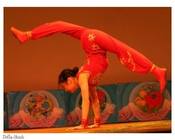 Chinese Acrobatic Hand Spring by Della-Stock