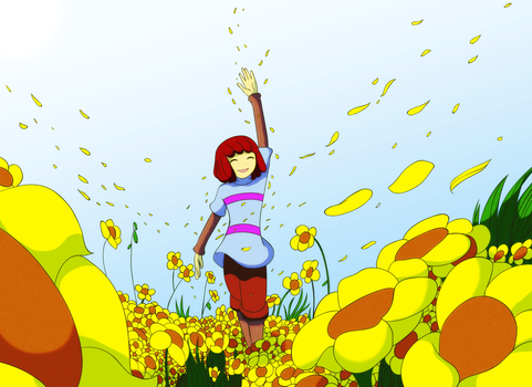 Undertale: Field of Flowers by CoolFireBird
