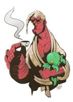 Sleepy-Time Hellboy by Baron-Von-Jello