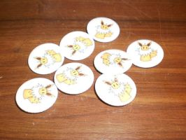 jolteon badges for sale by Baka-customs