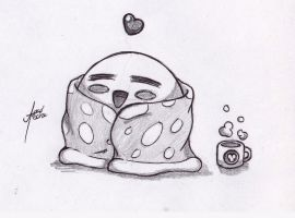 Request: Kirby in a Blanket by amaitsuno