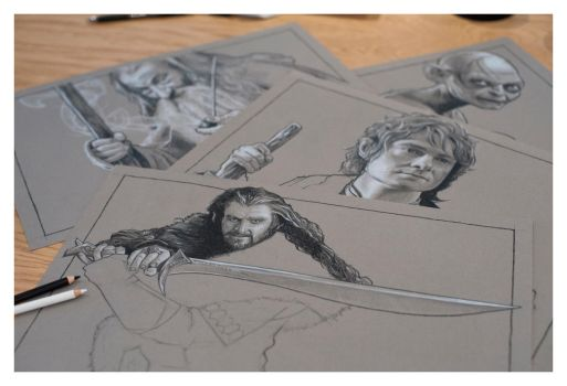 The Hobbit Part 4 - Pencil Study by jasonbrian007