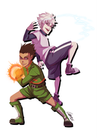 Gon and Killua by lahteh