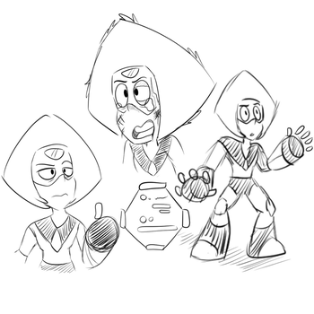 Peridot Sketches by BlueHuskyy