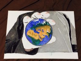 My Hand holding Earth part 2 by Aboodi22