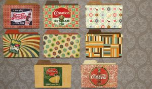 folders vintageee by florvaz5 by florvaz5
