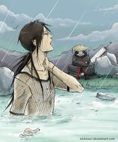 Itachi kisame and the rain. by Kibbitzer
