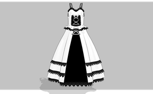 Black and White Lolita dress -UPDATED- by amiamy111