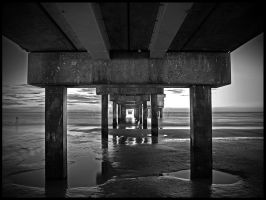 Beyond The Sea B+W by SteelAtlas
