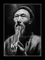 Chinese Old Man by straycat27