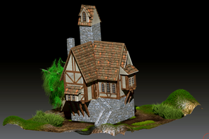 Zbrush- Medieval house. by GEBdesign