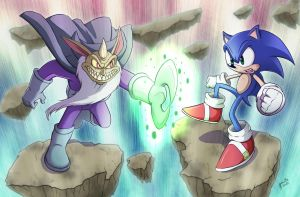 The Wizard Versus the Hedgehog by marcotte
