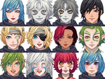 RPG faces just because by eternitymaze
