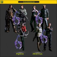 Resident Evil 6 Dock Icon Pack by IvanCEs