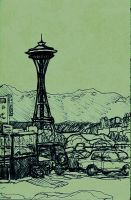 space needle by dgroseclose
