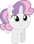 Looking Up - SweetieBelle by TomFraggle