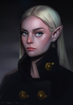 Grumpy Elf by Tsvetka