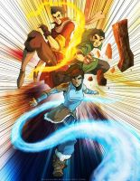 Korra, Mako, and Bolin by PioPauloSantana