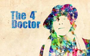 4th Doctor: Watercolor by ElijahVD