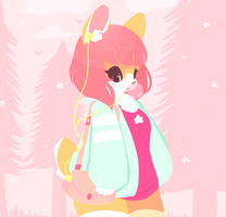 Pinkly Morning Stroll by poofylion