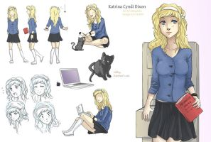 Commission: Katrina Character sheet by MissPinks