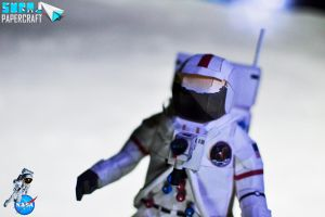 Nasa Astronaut Papercraft by suraj281191
